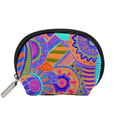 Pop Art Paisley Flowers Ornaments Multicolored 3 Accessory Pouches (small)