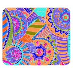 Pop Art Paisley Flowers Ornaments Multicolored 3 Double Sided Flano Blanket (small)