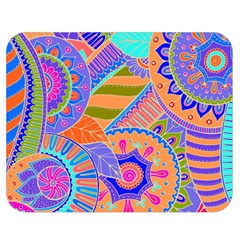 Pop Art Paisley Flowers Ornaments Multicolored 3 Double Sided Flano Blanket (medium)