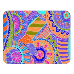 Pop Art Paisley Flowers Ornaments Multicolored 3 Double Sided Flano Blanket (large)