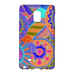 Pop Art Paisley Flowers Ornaments Multicolored 3 Samsung Galaxy Note Edge Hardshell Case