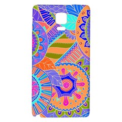 Pop Art Paisley Flowers Ornaments Multicolored 3 Samsung Note 4 Hardshell Back Case