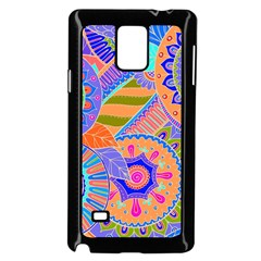 Pop Art Paisley Flowers Ornaments Multicolored 3 Samsung Galaxy Note 4 Case (black)