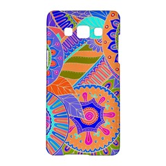 Pop Art Paisley Flowers Ornaments Multicolored 3 Samsung Galaxy A5 Hardshell Case