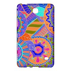 Pop Art Paisley Flowers Ornaments Multicolored 3 Samsung Galaxy Tab 4 (8 ) Hardshell Case