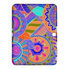 Pop Art Paisley Flowers Ornaments Multicolored 3 Samsung Galaxy Tab 4 (10 1 ) Hardshell Case