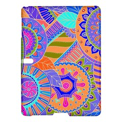 Pop Art Paisley Flowers Ornaments Multicolored 3 Samsung Galaxy Tab S (10 5 ) Hardshell Case