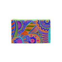 Pop Art Paisley Flowers Ornaments Multicolored 3 Cosmetic Bag (xs)