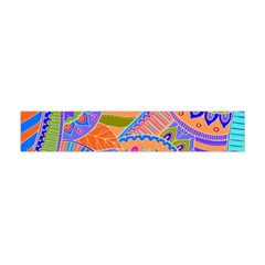 Pop Art Paisley Flowers Ornaments Multicolored 3 Flano Scarf (mini)