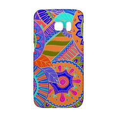 Pop Art Paisley Flowers Ornaments Multicolored 3 Samsung Galaxy S6 Edge Hardshell Case