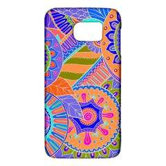 Pop Art Paisley Flowers Ornaments Multicolored 3 Samsung Galaxy S6 Hardshell Case