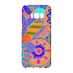 Pop Art Paisley Flowers Ornaments Multicolored 3 Samsung Galaxy S8 Hardshell Case