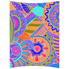 Pop Art Paisley Flowers Ornaments Multicolored 3 Back Support Cushion