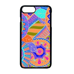 Pop Art Paisley Flowers Ornaments Multicolored 3 Apple Iphone 8 Plus Seamless Case (black)