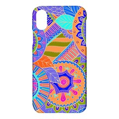 Pop Art Paisley Flowers Ornaments Multicolored 3 Apple Iphone X Hardshell Case