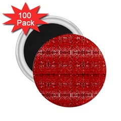 Red Lace Design Created By Flipstylez Designs 2 25  Magnets (100 Pack)