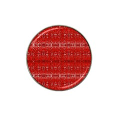 Red Lace Design Created By Flipstylez Designs Hat Clip Ball Marker by flipstylezdes