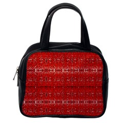 Red Lace Design Created By Flipstylez Designs Classic Handbags (one Side) by flipstylezdes
