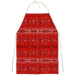 Red Lace Design Created By Flipstylez Designs Full Print Aprons