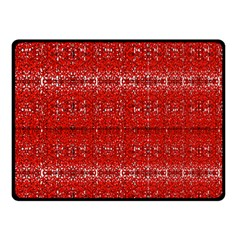 Red Lace Design Created By Flipstylez Designs Fleece Blanket (small)