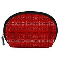 Red Lace Design Created By Flipstylez Designs Accessory Pouches (large)