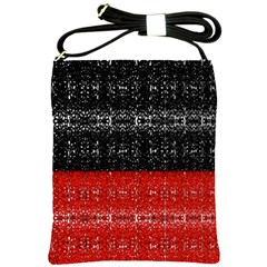Red And Black Lace In Layers Created By Flipstylez Designs Shoulder Sling Bags by flipstylezdes
