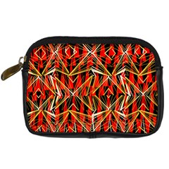 Red Triangles Zig Zags Many Layers Created By Flipstylezdesigns Digital Camera Cases