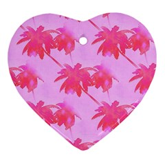 Palm Trees Pink Paradise Ornament (heart)