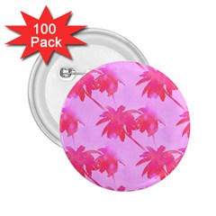 Palm Trees Pink Paradise 2 25  Buttons (100 Pack)