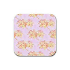 Palm Trees Tropical Summer Heat Rubber Coaster (square)