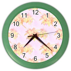 Palm Trees Tropical Summer Heat Color Wall Clock