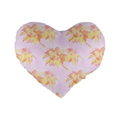 Palm Trees Tropical Summer Heat Standard 16  Premium Flano Heart Shape Cushions by CrypticFragmentsColors