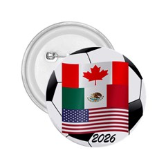 United Football Championship Hosting 2026 Soccer Ball Logo Canada Mexico Usa 2 25  Buttons