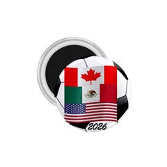 United Football Championship Hosting 2026 Soccer Ball Logo Canada Mexico Usa 1 75  Magnets