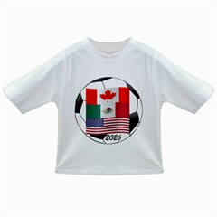 United Football Championship Hosting 2026 Soccer Ball Logo Canada Mexico Usa Infant/toddler T Shirts