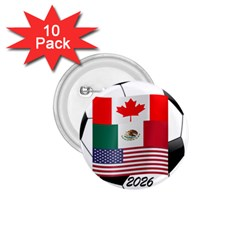United Football Championship Hosting 2026 Soccer Ball Logo Canada Mexico Usa 1 75  Buttons (10 Pack)