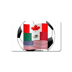 United Football Championship Hosting 2026 Soccer Ball Logo Canada Mexico Usa Magnet (name Card)