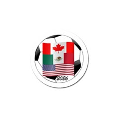 United Football Championship Hosting 2026 Soccer Ball Logo Canada Mexico Usa Golf Ball Marker (10 Pack)