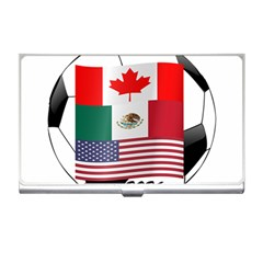 United Football Championship Hosting 2026 Soccer Ball Logo Canada Mexico Usa Business Card Holders by yoursparklingshop