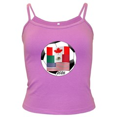 United Football Championship Hosting 2026 Soccer Ball Logo Canada Mexico Usa Dark Spaghetti Tank