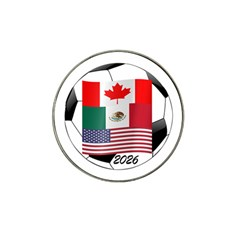 United Football Championship Hosting 2026 Soccer Ball Logo Canada Mexico Usa Hat Clip Ball Marker (4 Pack)