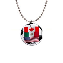 United Football Championship Hosting 2026 Soccer Ball Logo Canada Mexico Usa Button Necklaces