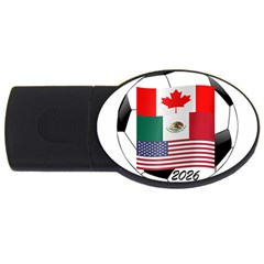 United Football Championship Hosting 2026 Soccer Ball Logo Canada Mexico Usa Usb Flash Drive Oval (4 Gb)