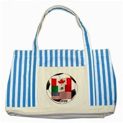 United Football Championship Hosting 2026 Soccer Ball Logo Canada Mexico Usa Striped Blue Tote Bag