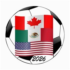 United Football Championship Hosting 2026 Soccer Ball Logo Canada Mexico Usa Canvas 20  X 20