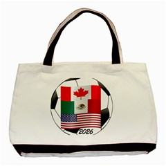 United Football Championship Hosting 2026 Soccer Ball Logo Canada Mexico Usa Basic Tote Bag (two Sides)