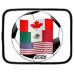 United Football Championship Hosting 2026 Soccer Ball Logo Canada Mexico Usa Netbook Case (large)