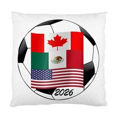 United Football Championship Hosting 2026 Soccer Ball Logo Canada Mexico Usa Standard Cushion Case (two Sides)