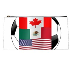 United Football Championship Hosting 2026 Soccer Ball Logo Canada Mexico Usa Pencil Cases