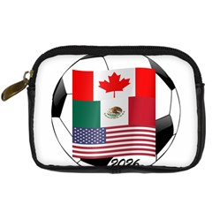United Football Championship Hosting 2026 Soccer Ball Logo Canada Mexico Usa Digital Camera Cases